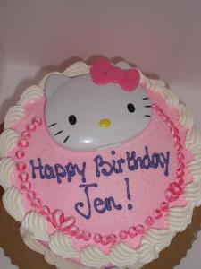 I welcomed in my 33rd year in style- with a Hello Kitty birthday cake!