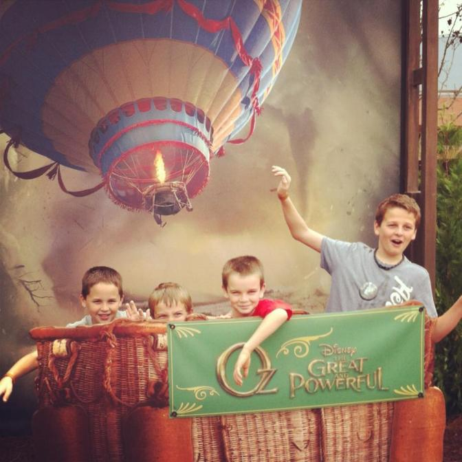 "All the boys at ""Oz the Great and Powerful"" Disney Parks Blog meetup."