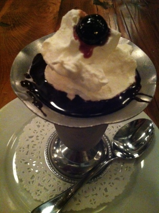 Pharmacy Old Time Hot Fudge Sundae.