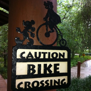 Disney Bike Crossing sign