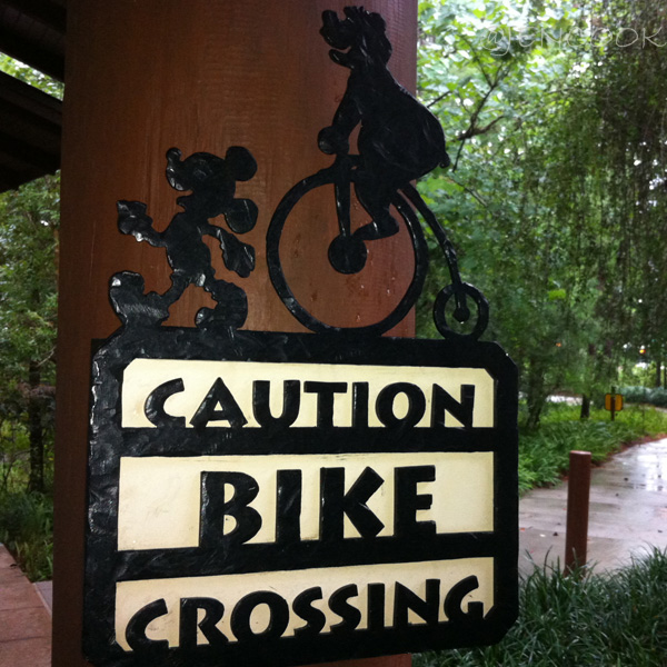 Disney Bike Crossing sign