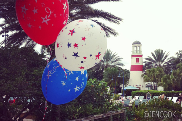 Fourth of July at Disney's Old Key West Resort.