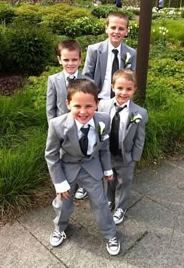 Cousins at Katie's wedding.
