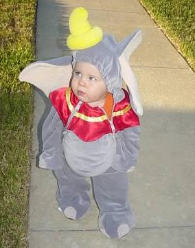 Brendan as Dumbo for Halloween.