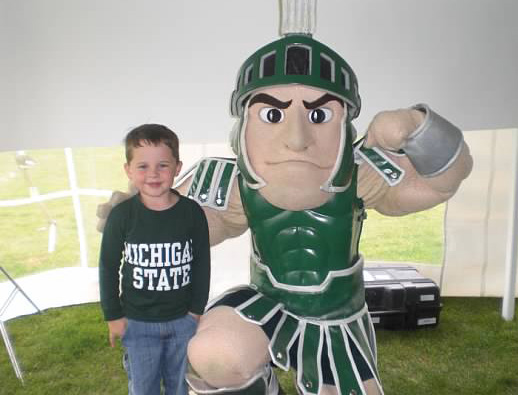Brendan at Sparty at Michigan State.