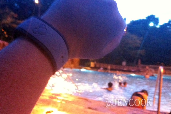 Disney's Magic Band after surviving the pool and hot tub!