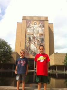 The boys at Touchdown Jesus.