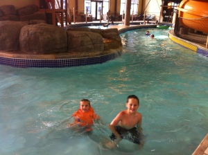 In the Great Wolf Lodge lazy river.