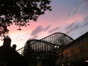 Sunset at Cedar Point.