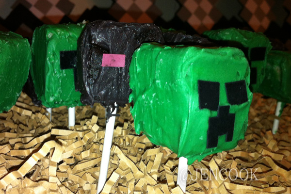 Minecraft-Creeper-Endermam-CakePops