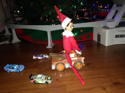Racing Elf On A Shelf