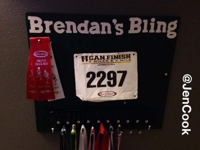 Medal and Race Bib Holder