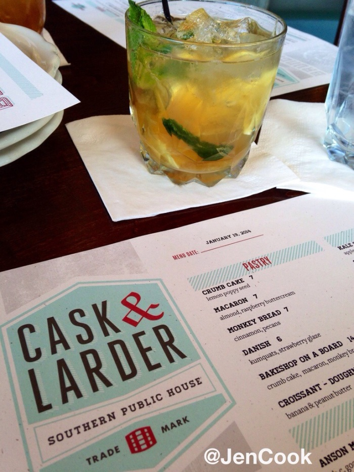 The Whiskey Smash from Cask and Larder in Winter Park.