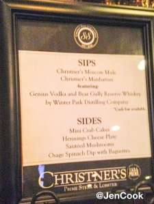 Sips & Sides at Christner's Prime Steak & Lobster