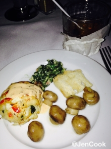 The amazing crab cake, mushrooms and spinach dip from Christner's Prime Steak & Lobster.
