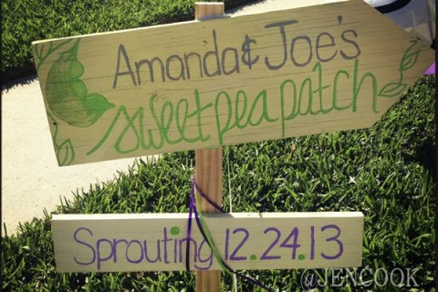 Sweet Pea Baby Shower Sign